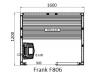 Финская сауна с электропечью Frank F 808 (180x120x210). Заказная позиция!!!